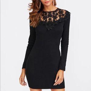 Black Floral Long Sleeve Super Cute